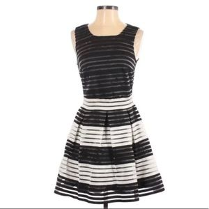 Sugarlips Black and White Fit and Flare Dress SMAL